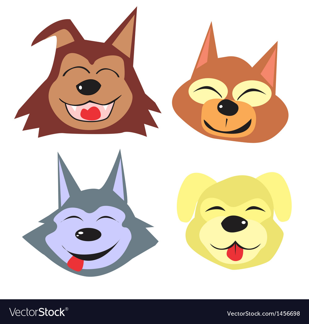 Cute animal collection vector