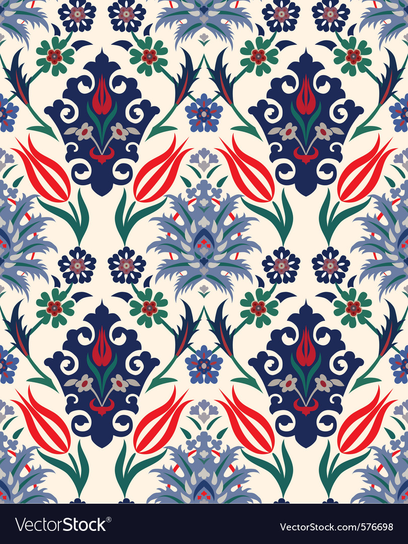 Royal floral seamless background vector