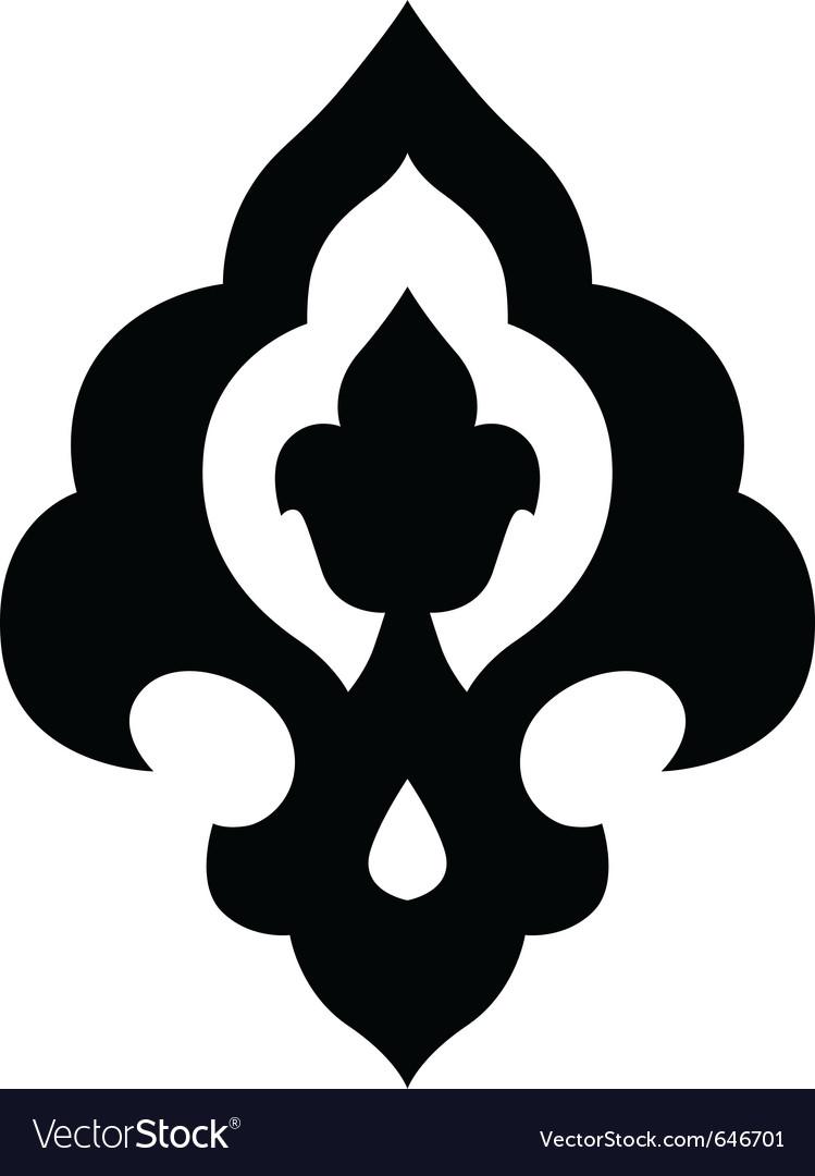 Ottoman iznik motif vector