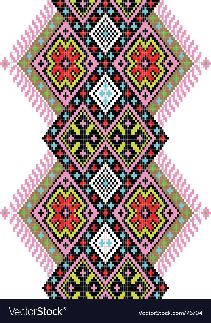 Folk ornament vector