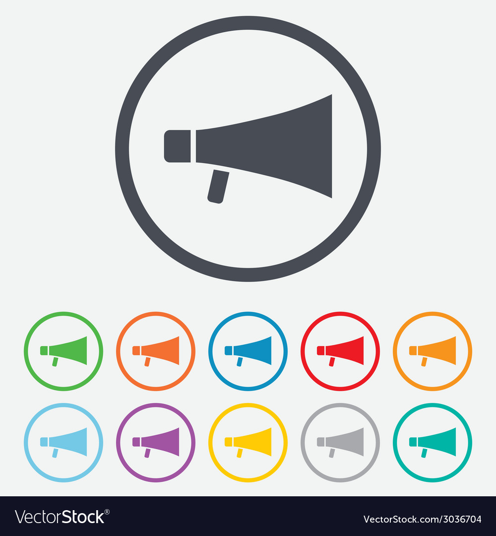 Megaphone soon icon loudspeaker symbol vector