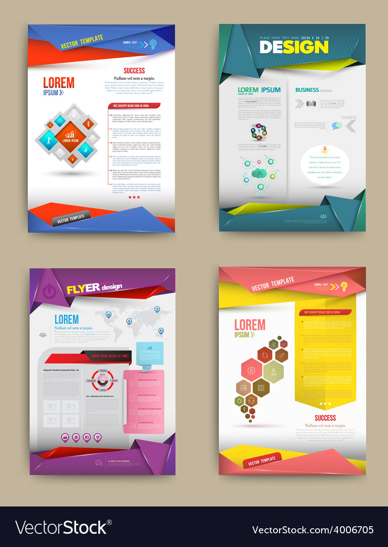 Set of flyer brochure design templates vector