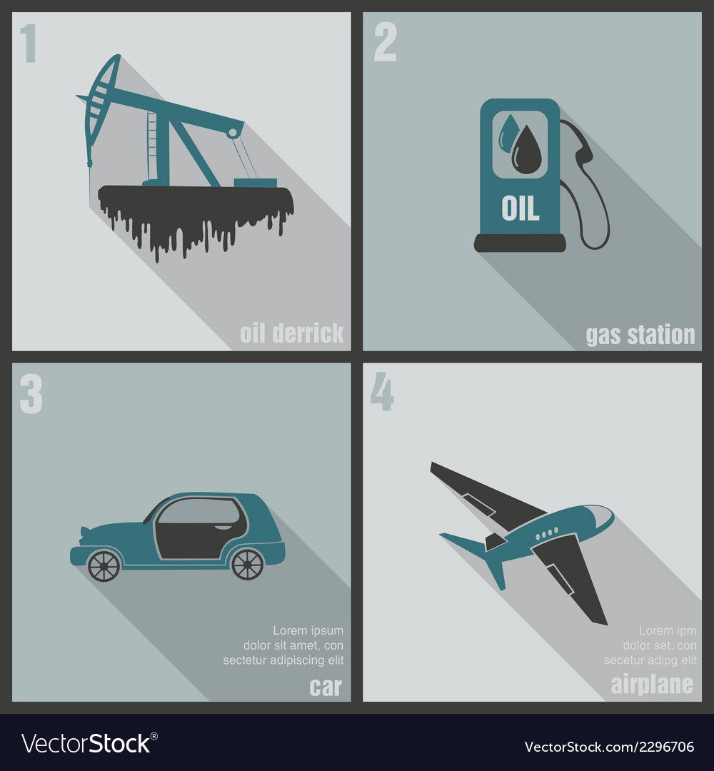 Icons production and use of oil vector