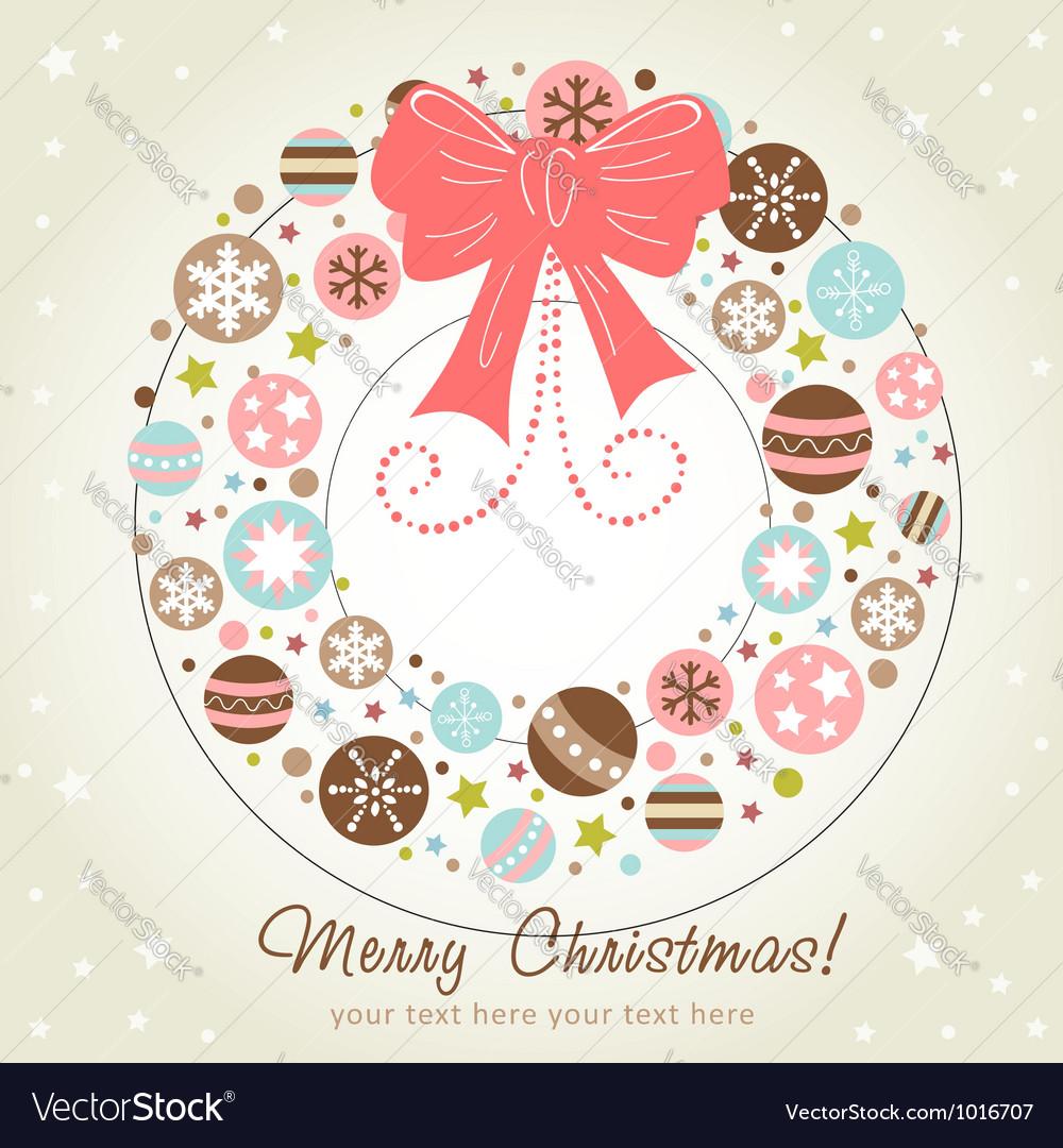 Creative design christmas wreath vector
