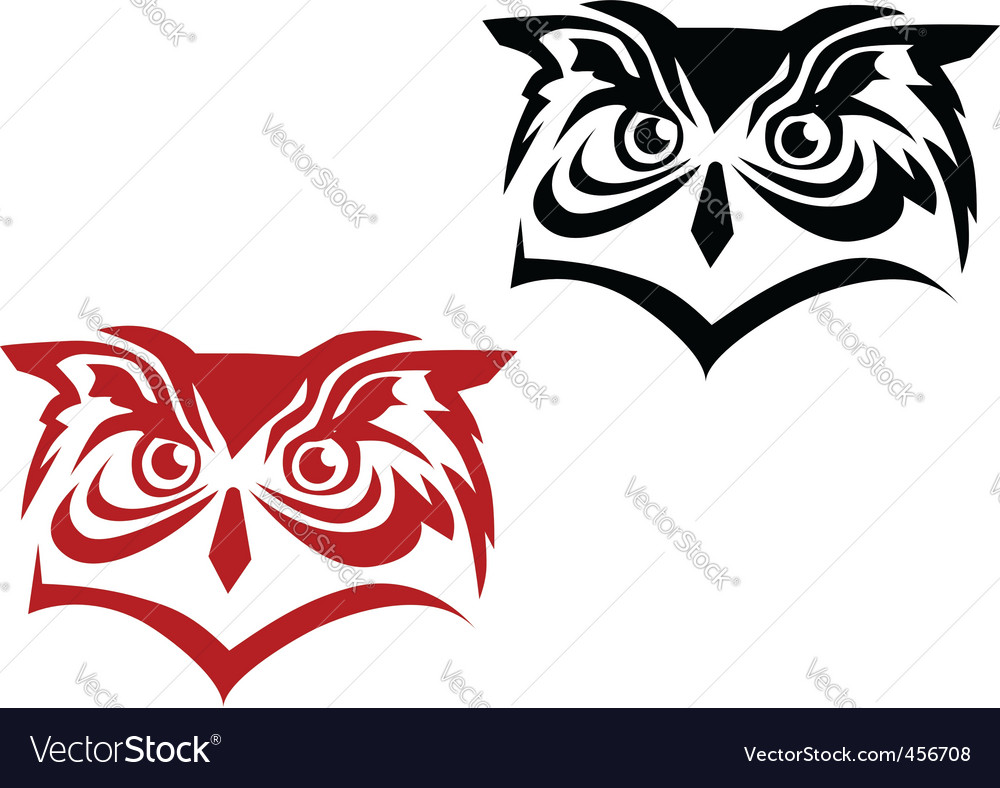 Owl tattoo vector