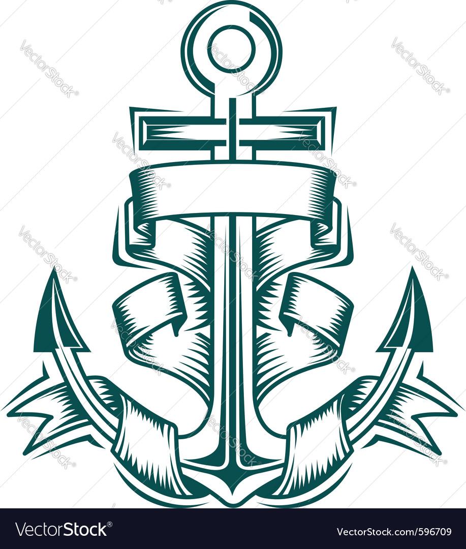Ancient anchor vector