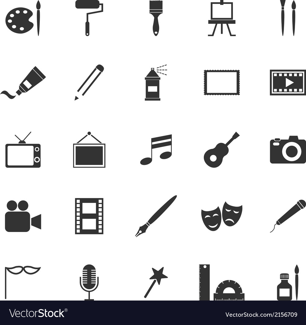 Art icons on white background vector