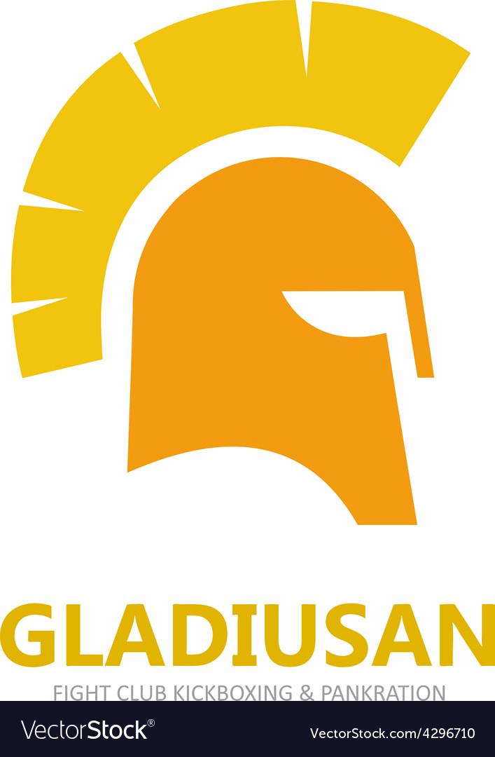 Helmet logo or symbol icon vector