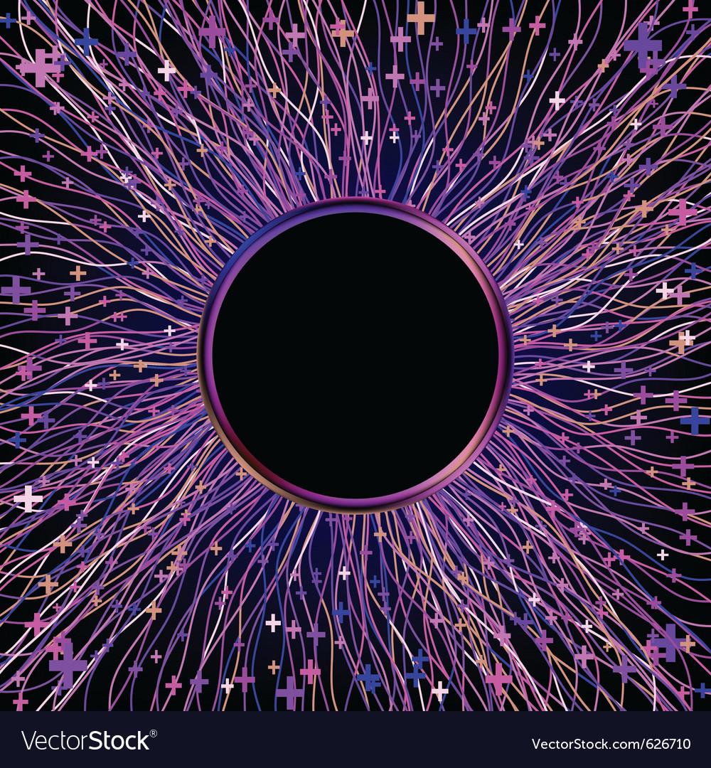 Neon laser beams vector