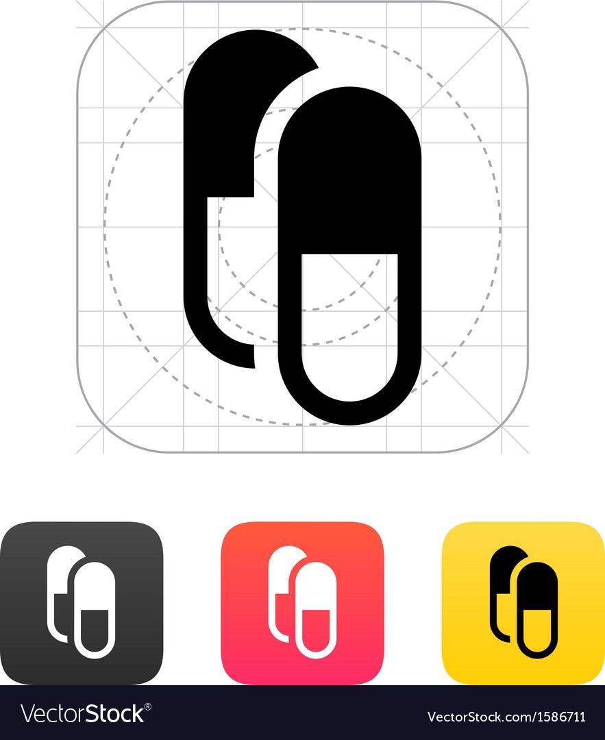 Pills capsule icon vector