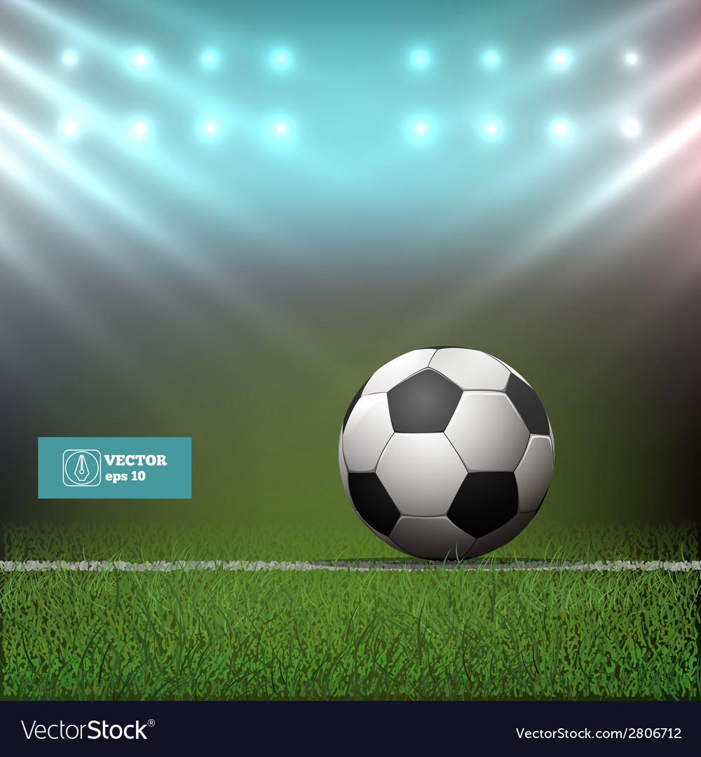 Soccer ball in stadium vector