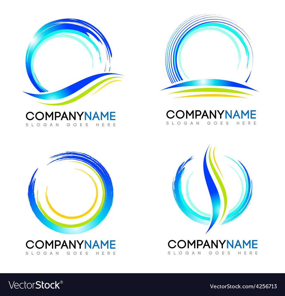 Water splash logo design vector