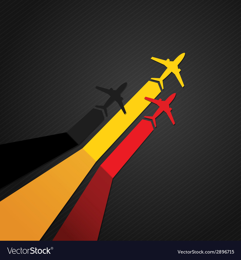 Germany plane vector