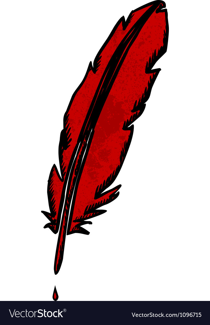 Scribble feather vector