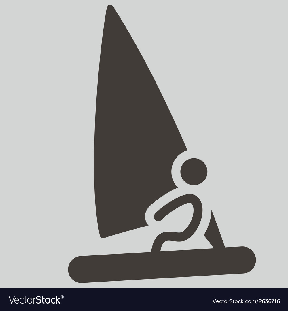 Sailing icon vector