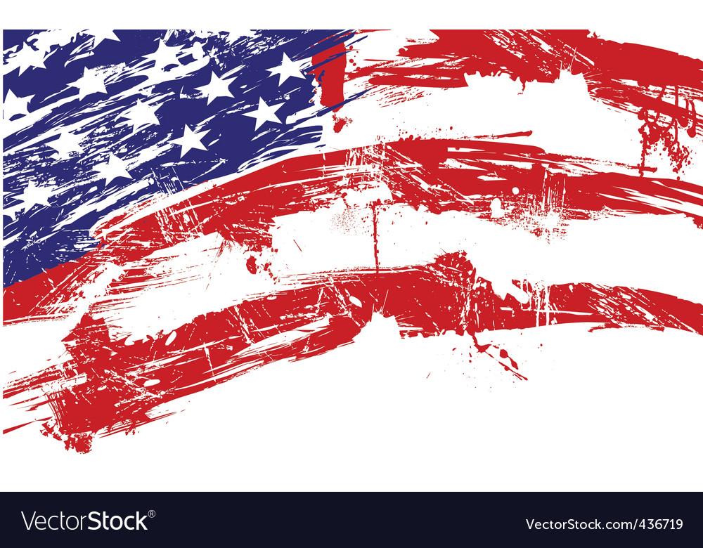 Usa grunge flag vector
