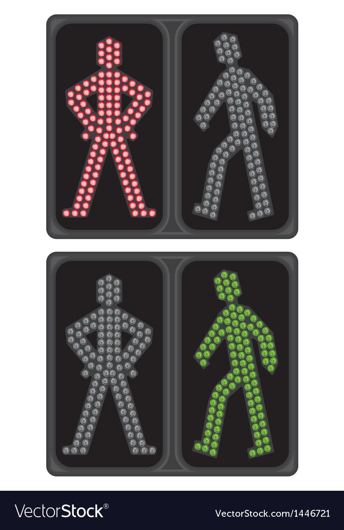 Led crosswalk signal vector