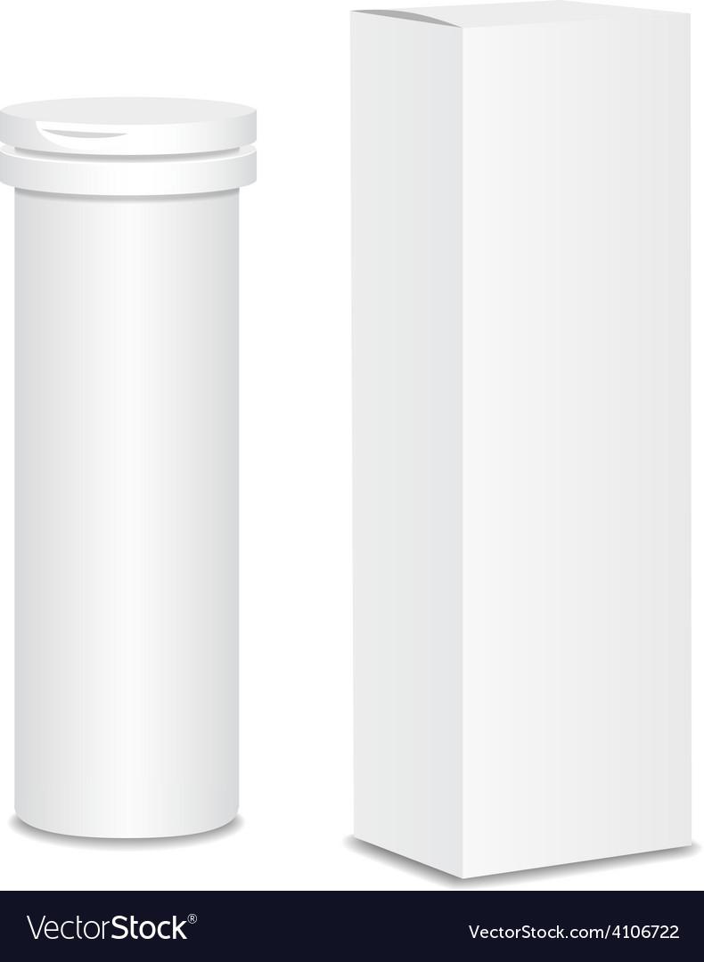 Blank medicine bottle  package vector