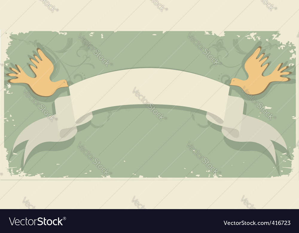 Retro grunge scroll background 2 vector