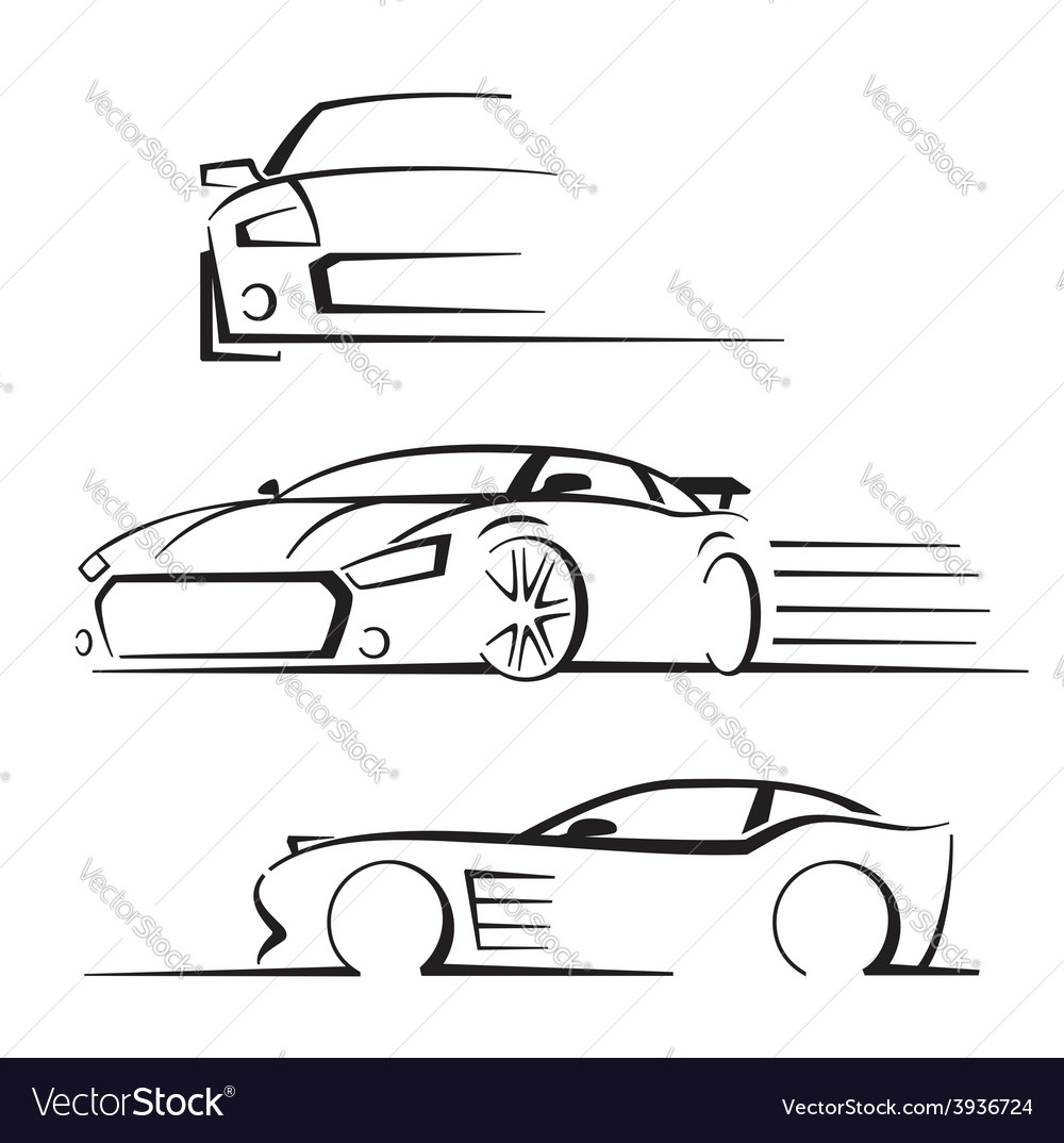Black auto set vector
