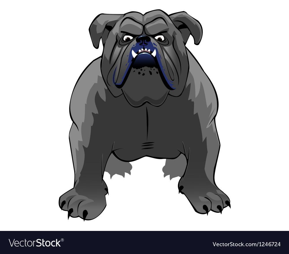 Bulldog thumb vector