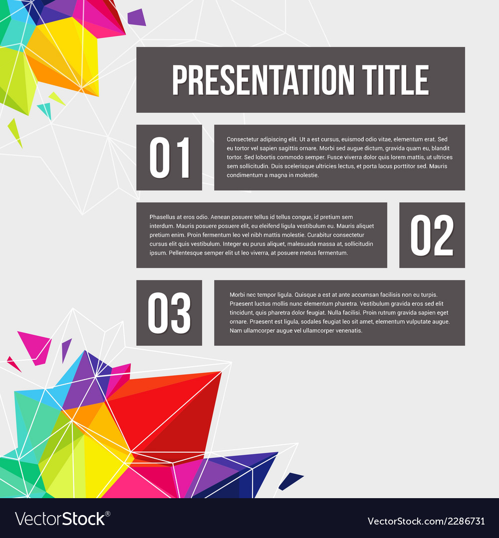 Template for your business presentation geometric vector