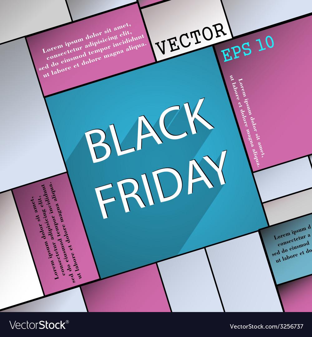 Black friday icon symbol flat modern web design vector