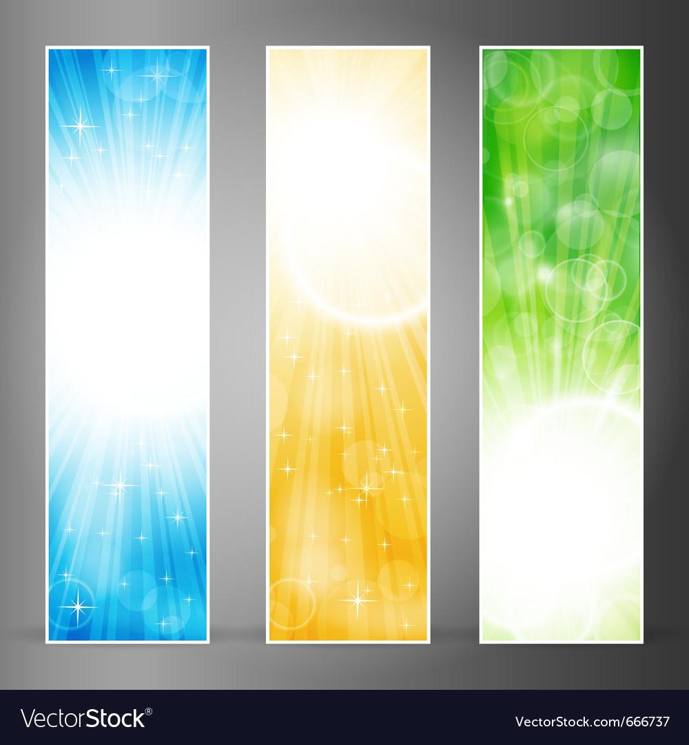 Vertical banner set vector