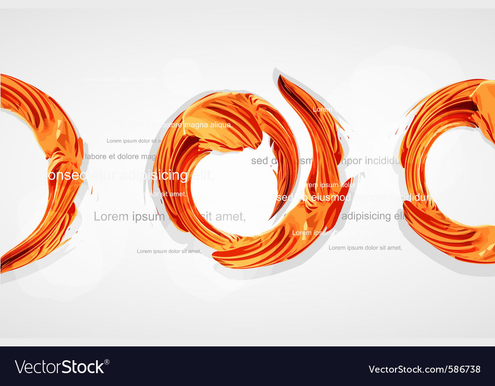 Abstract paint tecture swirls vector