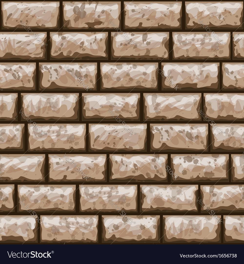 Dirty brick wall seamless pattern vector