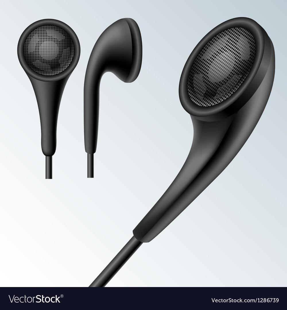 Headphone set vector