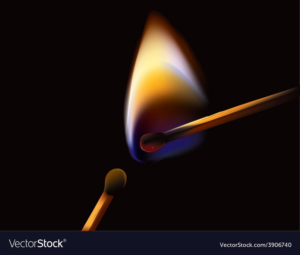 Burning matches vector