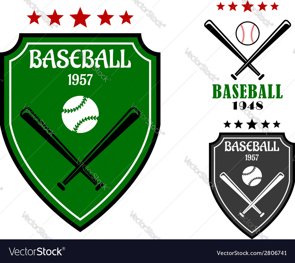 Baseball sporting emblems vector