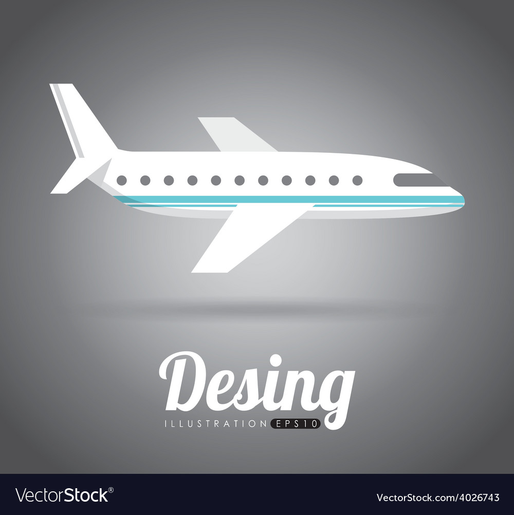Airplane fly vector