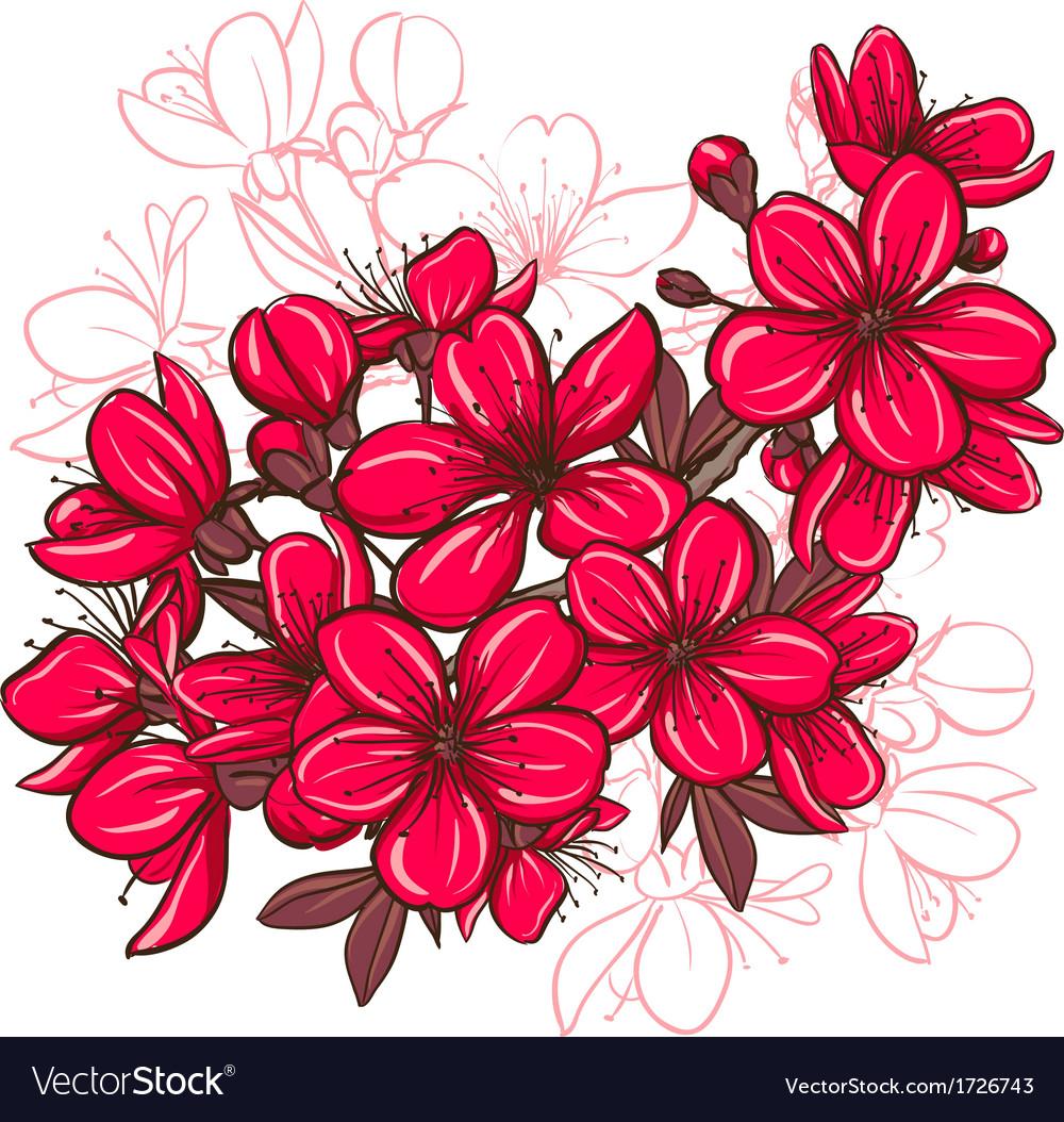Plum blossom vector