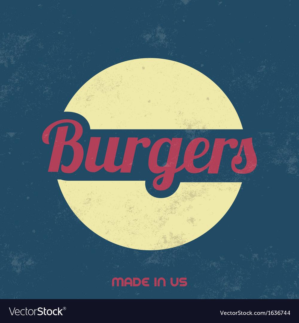 Retro food sign vintage background vector