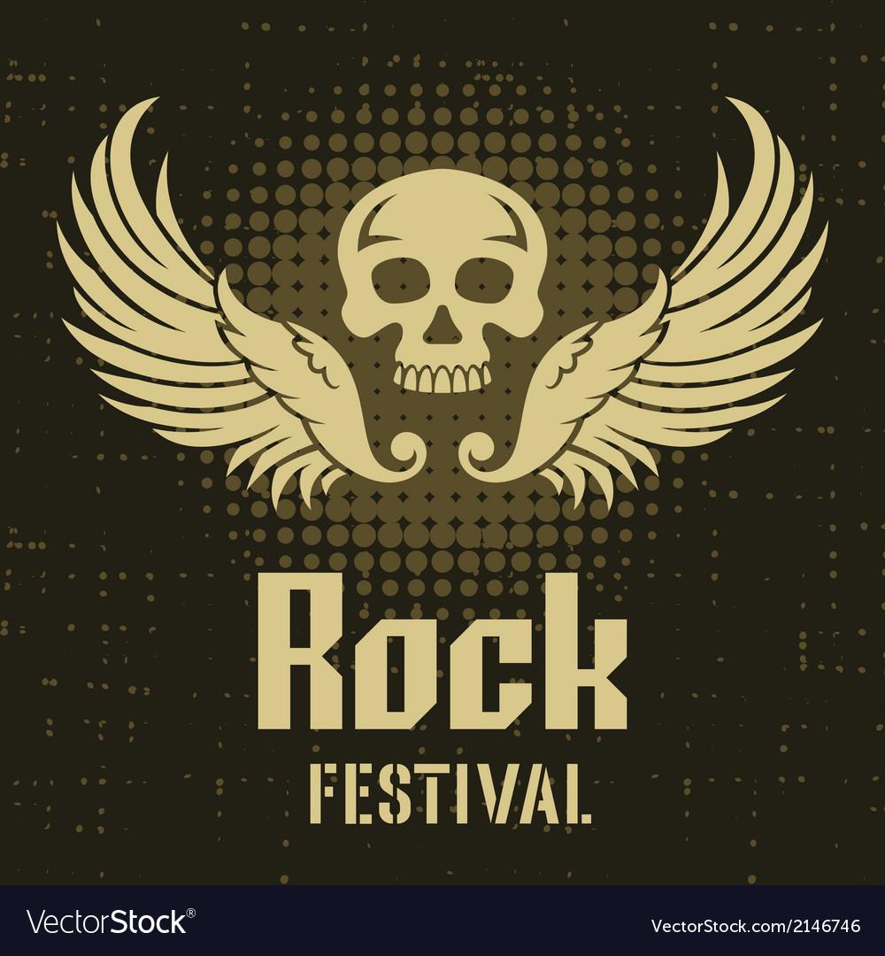 Rock festival poster template vector