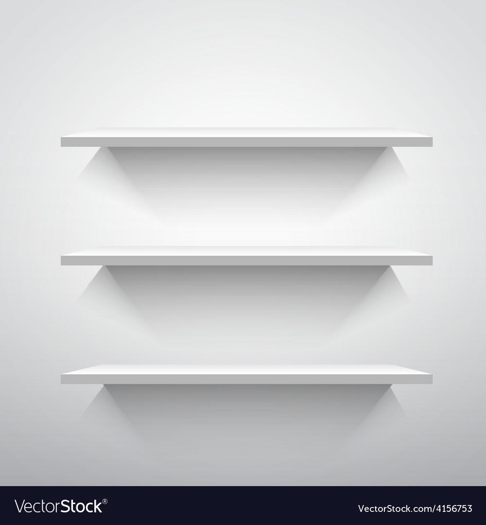Empty shelves vector