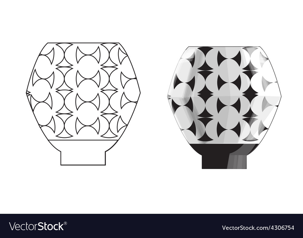 Crockery three vector