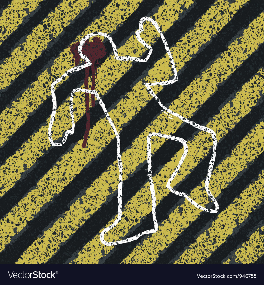 Murder crime scene abstract vector