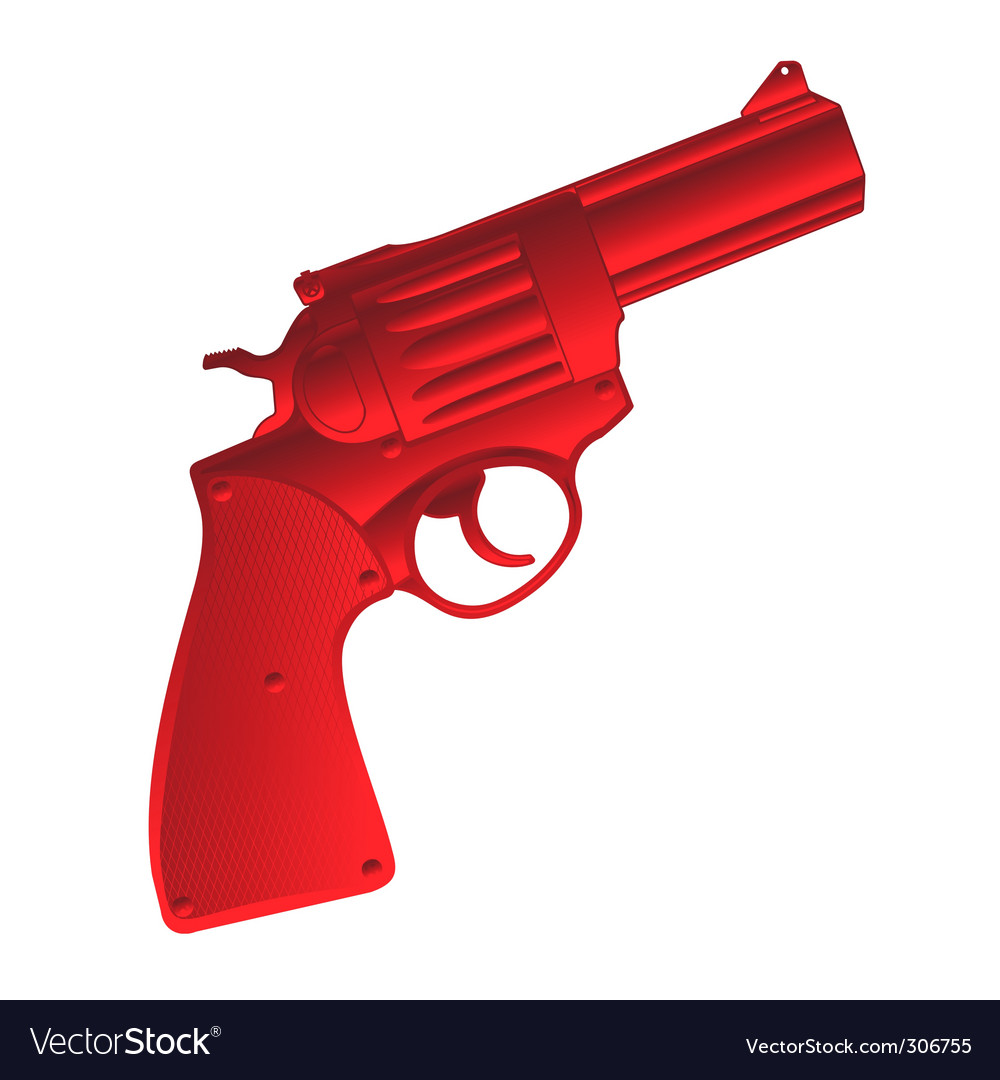 Pistol icon vector