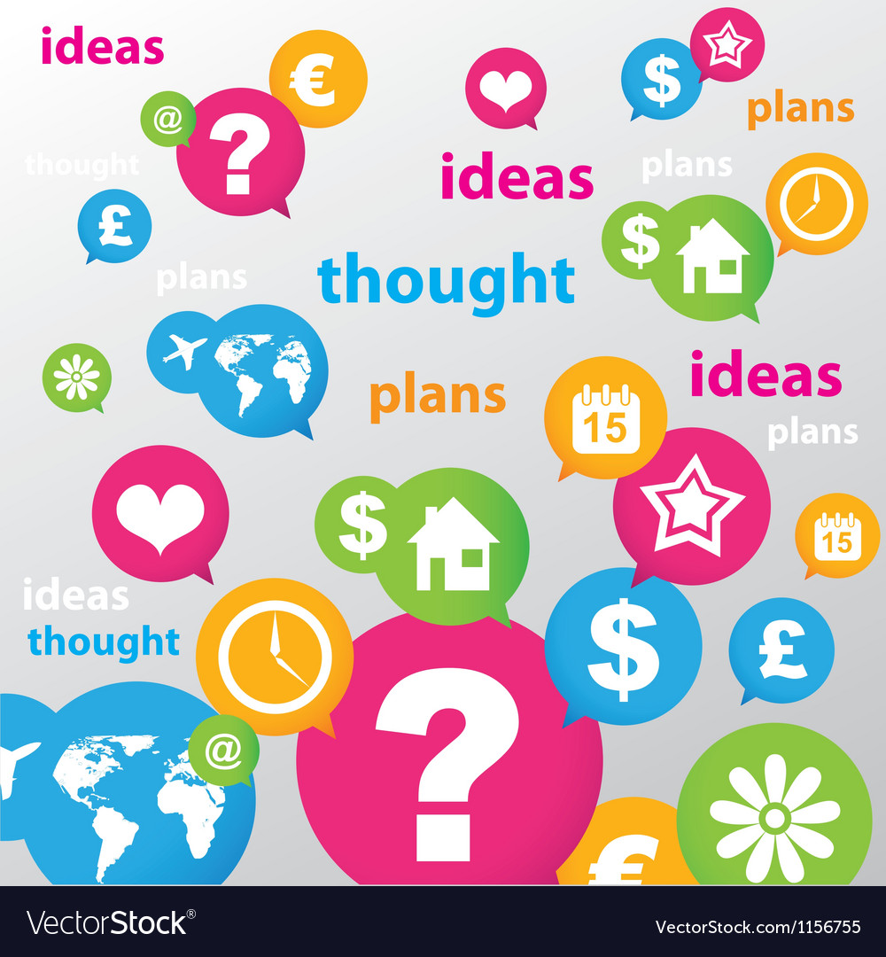 Thought ideas plans vector