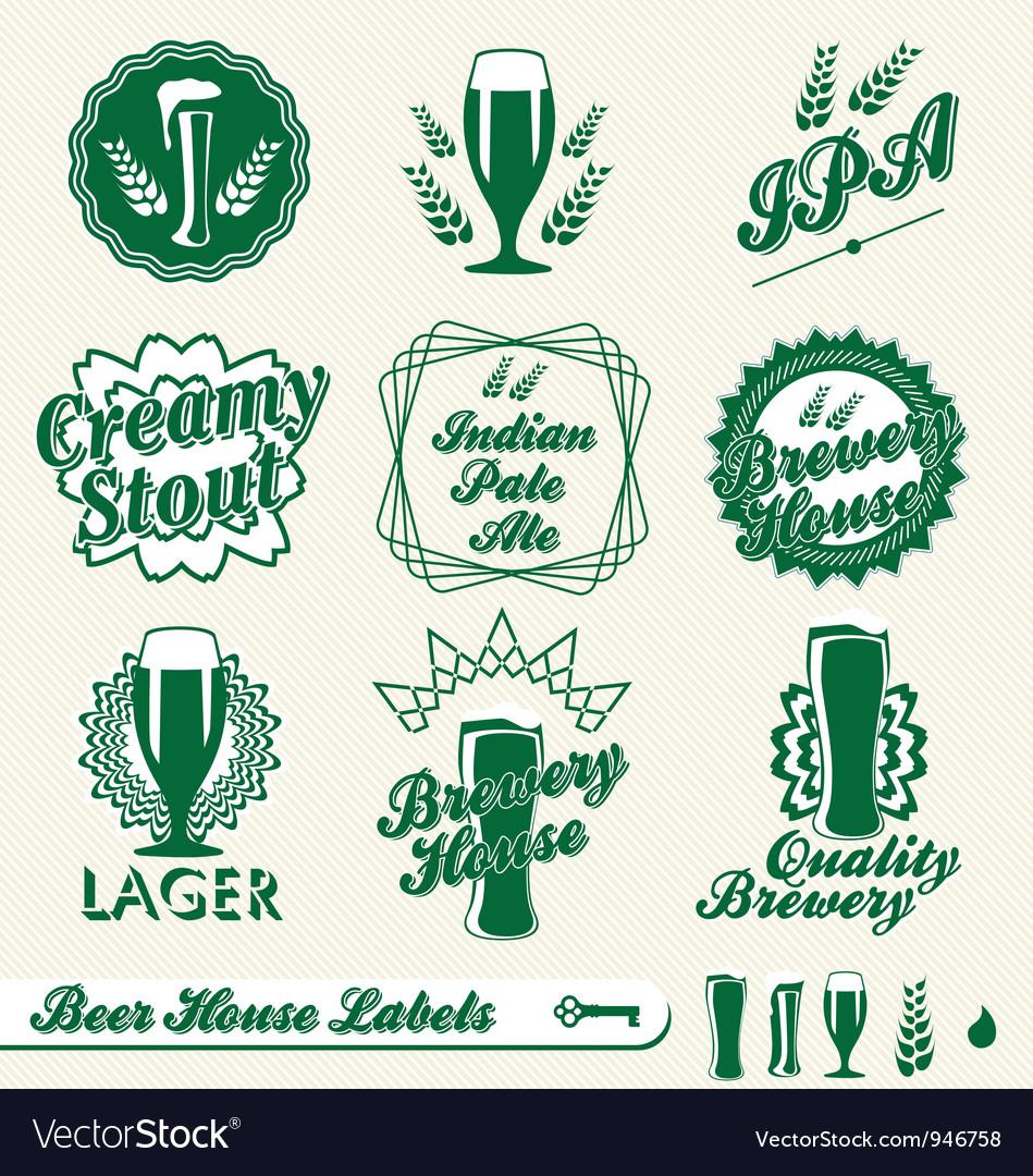 Beer labels vector