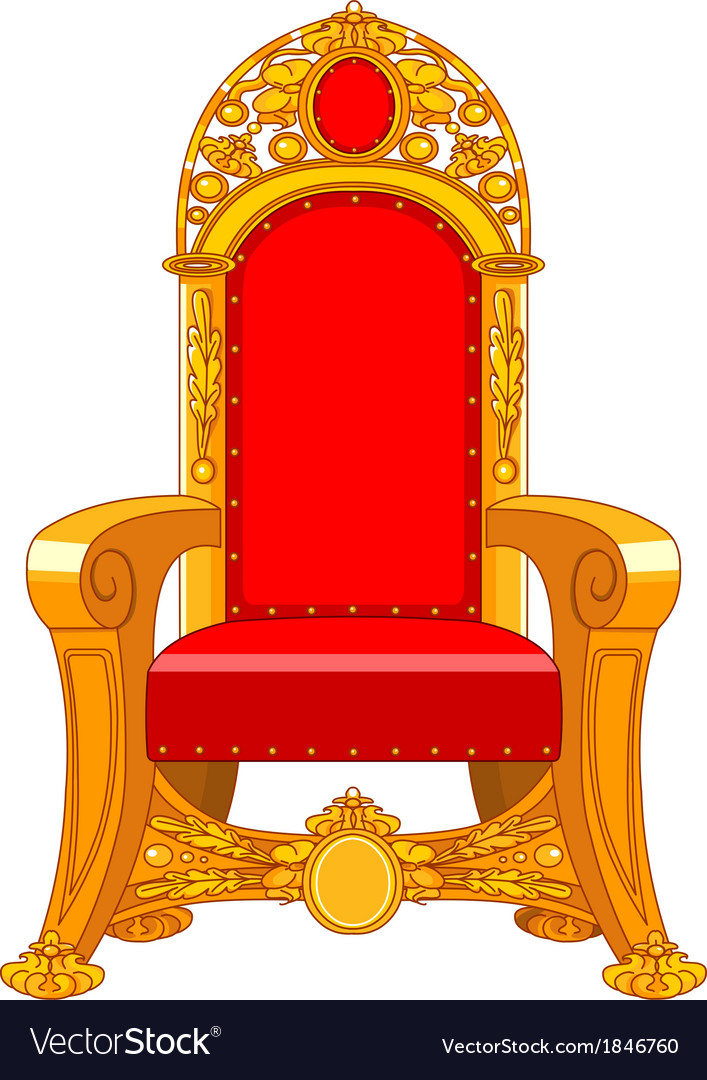 Old antique armchair vector