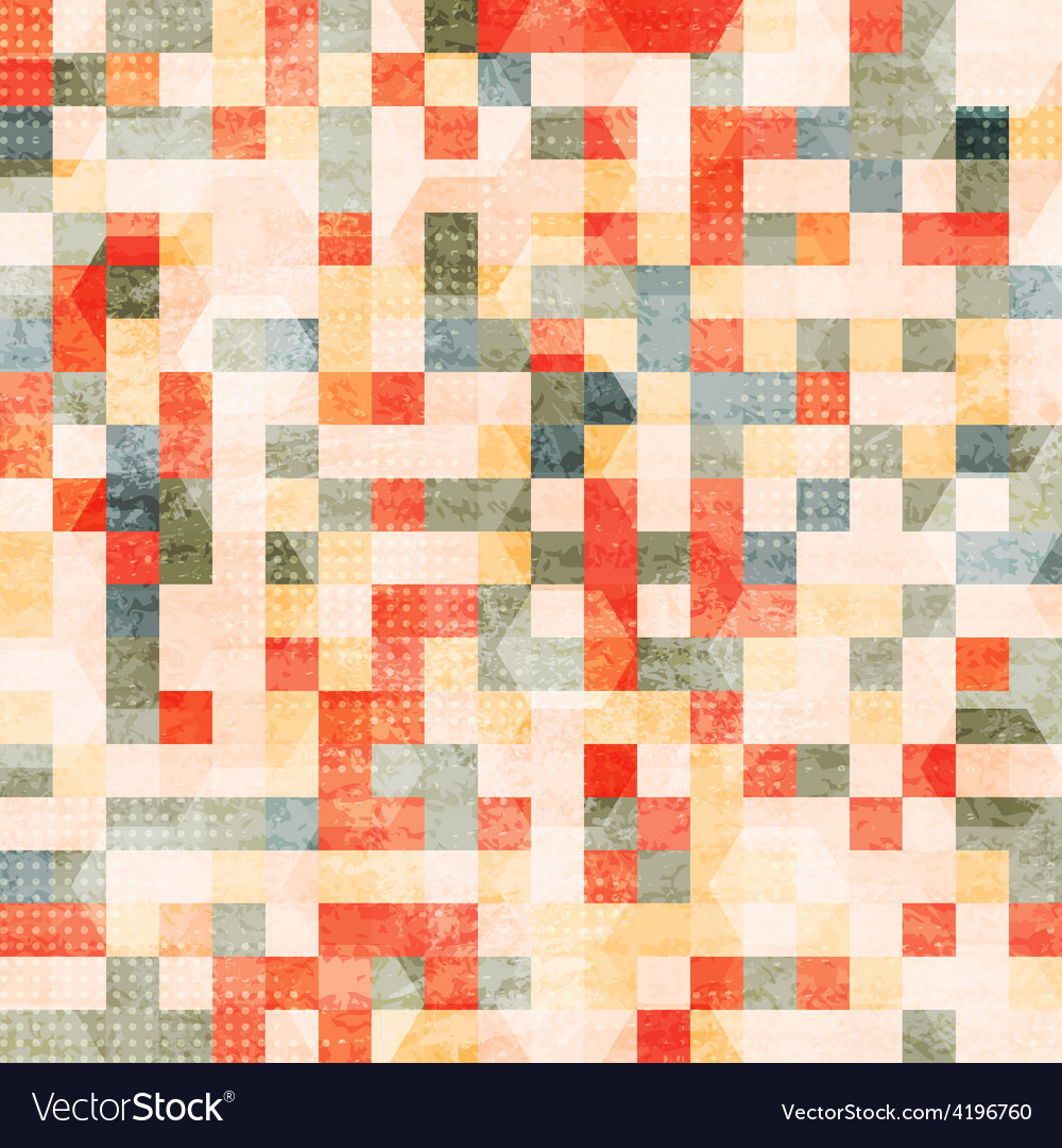 Vintage squares seamless vector