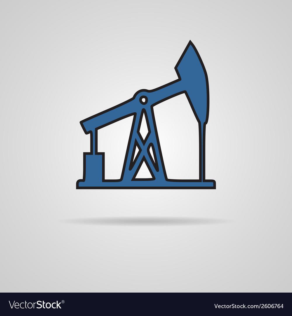 Oil rig icon vector