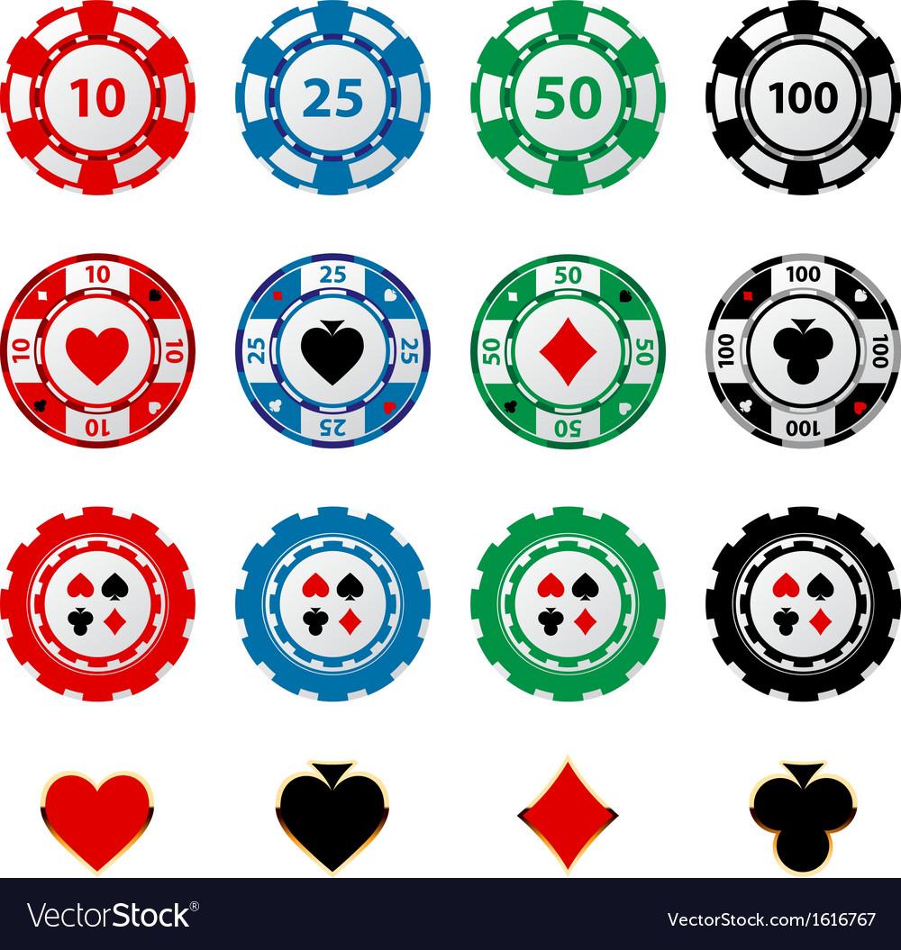 Gambling chips 2 vector