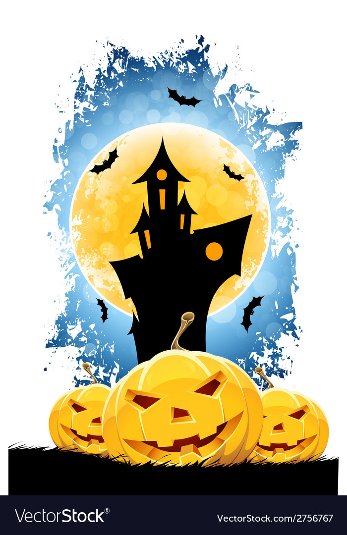 Grungy halloween background vector