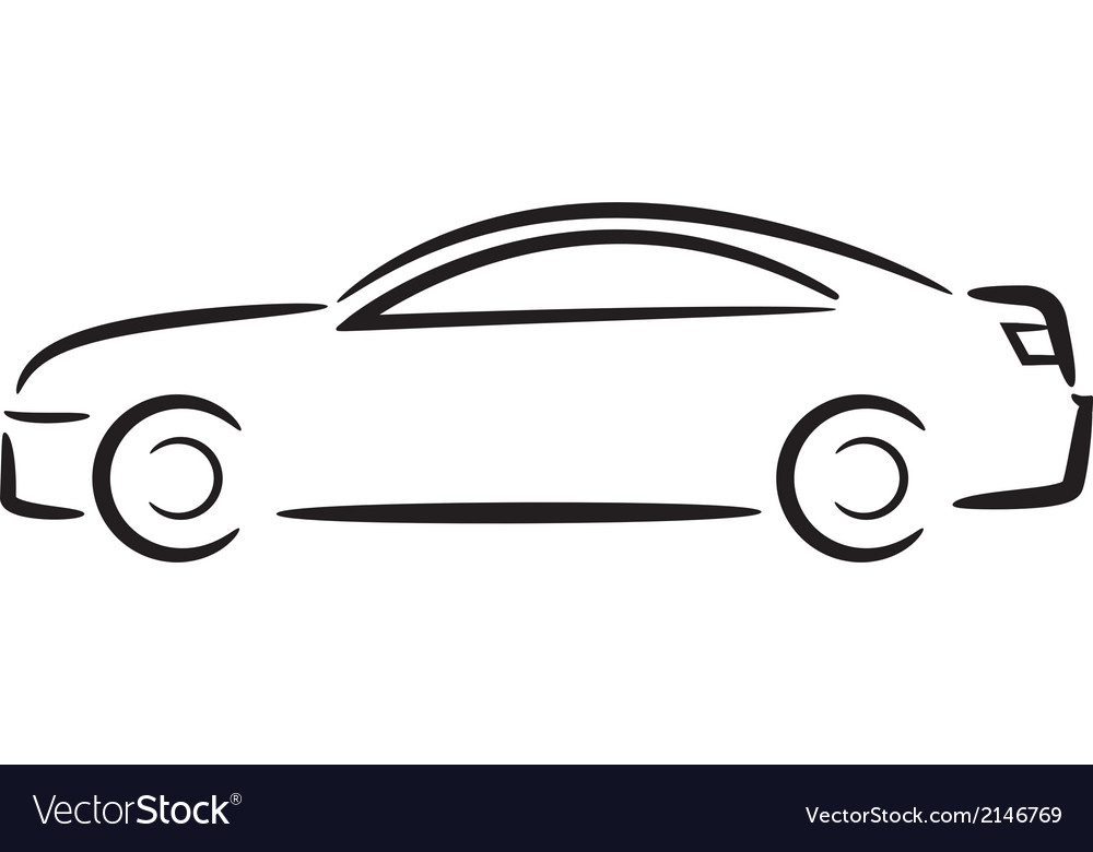 Car outline vector