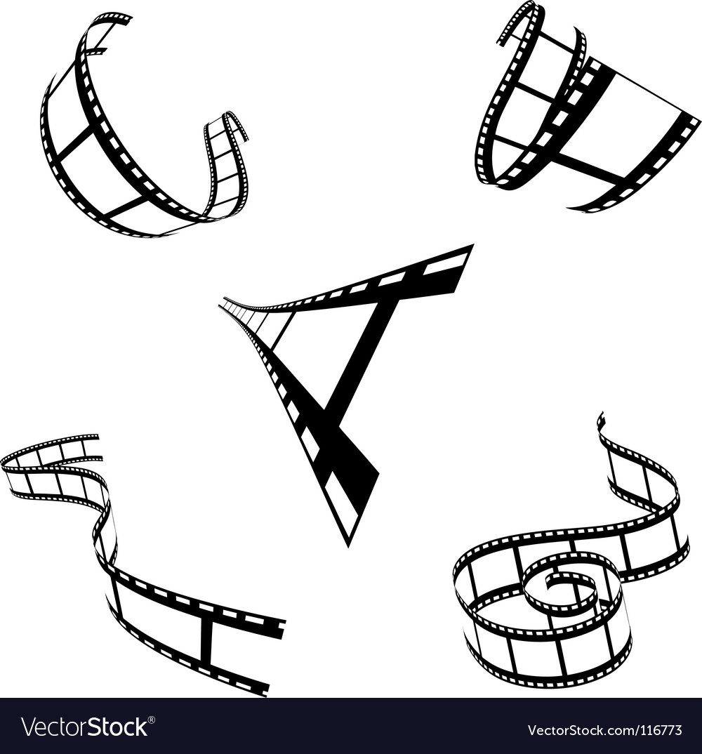 Shapes of film strip vector
